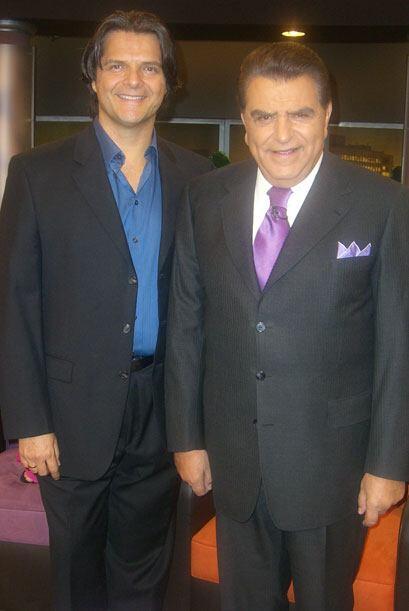 Así, Ariel López Padilla abrió el corazón y alma con Don Francisco.