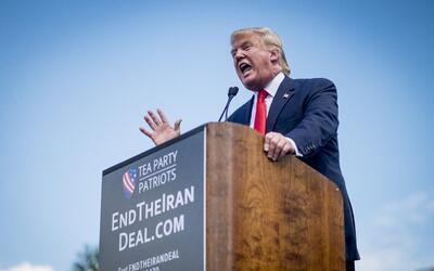 Donald Trump da un discurso en contra del acuerdo del gobierno de Obama...