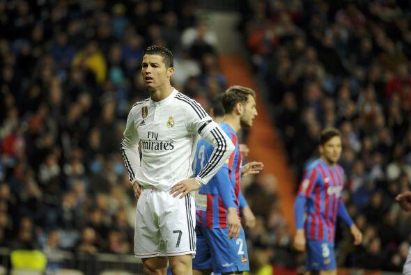 Cristiano Ronaldo, quien ya no es el Pichichi de la Liga, se mostr&oacut...