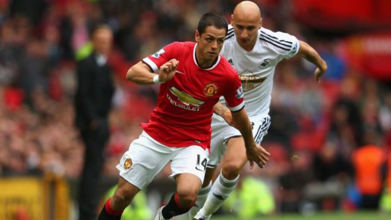 Javier Hernández jugó 45 minutos en la derrota del Manchester United 2-1...