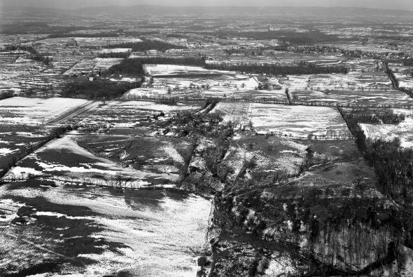 Foto aérea de Glen Ora, la residencia de John F. y Jacqueline en Middleb...