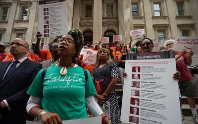 Protestan contra millonarios de Nueva York