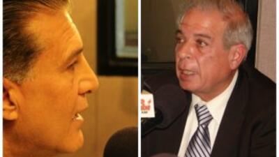 Carlos Hernández y Tomás Regalado, alcaldes de las ciudades de Hialeah y...