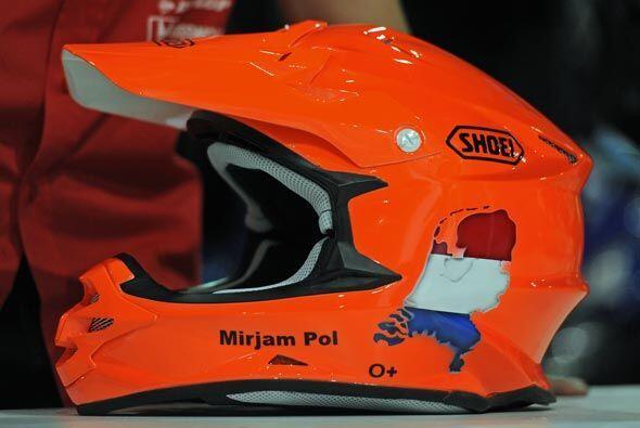 El casco del holandés Mirjam Pol será de vital importancia...