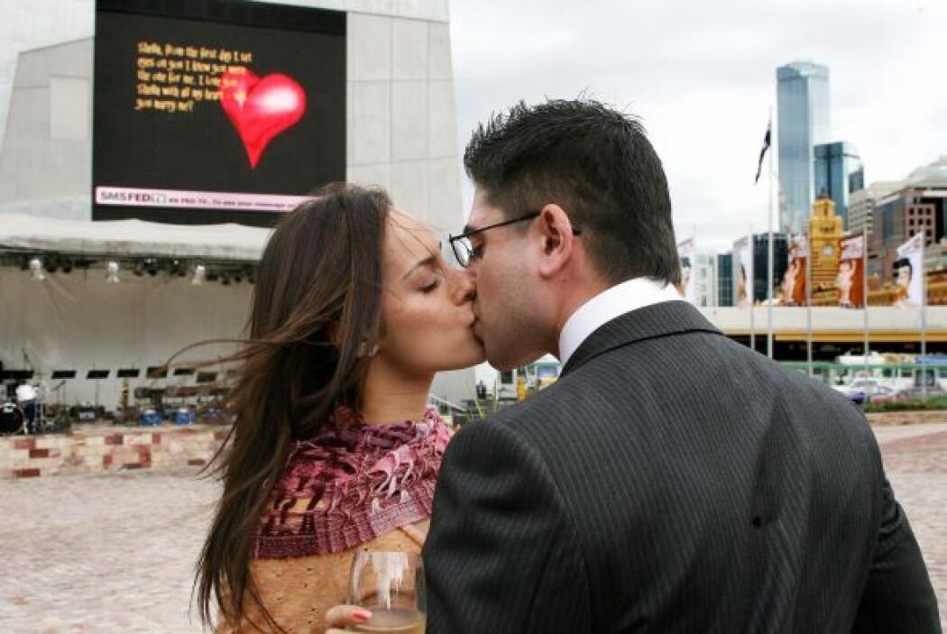 Aunque el beso no podía faltar.