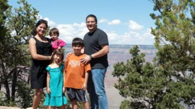 La familia Ruiz visitó el Cañón del Colorado en Arizona (foto cortesía d...