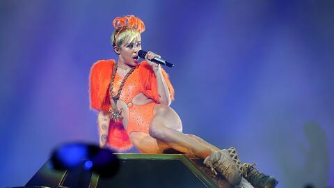 Miley Cyrus causó mucha polémica.