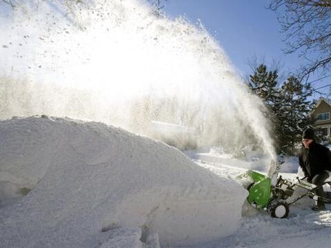 Una potente nevada cubría la región centro occidental y es...