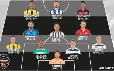 'Chicharito' y Fabián en el once de la semana de la Bundesliga.