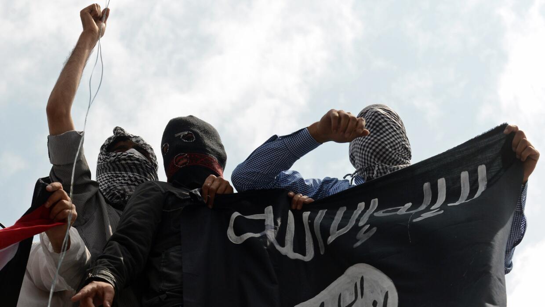 Partidarios de Estado Islámico en la Cachemira india