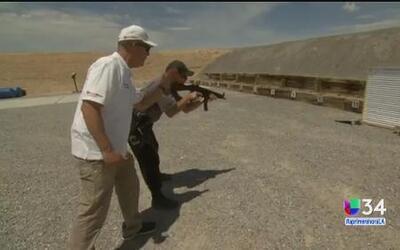 Entrenador de Los Ángeles crea una persiana a prueba de balas