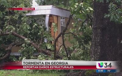 Tormentas en Georgia deja daños a su paso