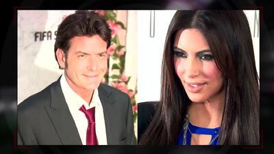 El pleito entre Charlie Sheen y Kim Kardashian