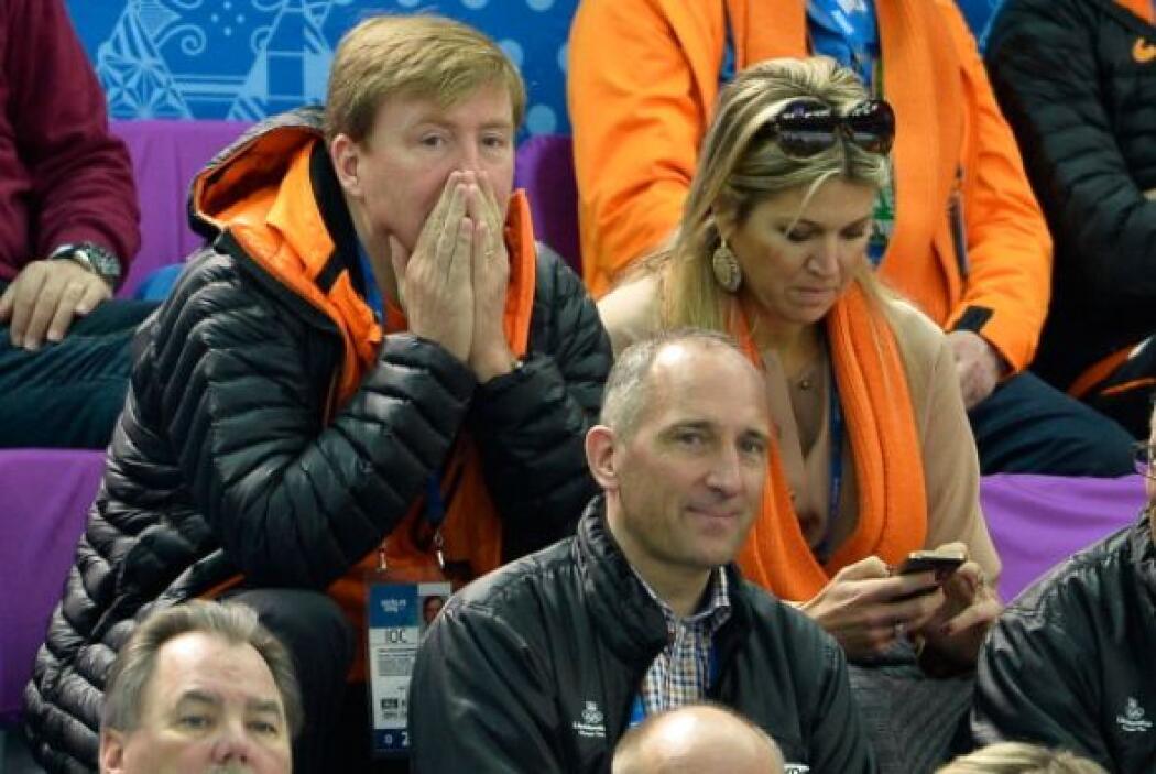 Los reyes de Holanda asistieron a los Juegos Olímpicos de Invierno en So...