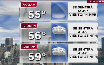 Tiempo: miércoles de lluvia y altos niveles de humedad en Nueva York