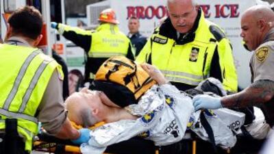 Un hombre que resultó herido en las explosiones registradas cerca de la...