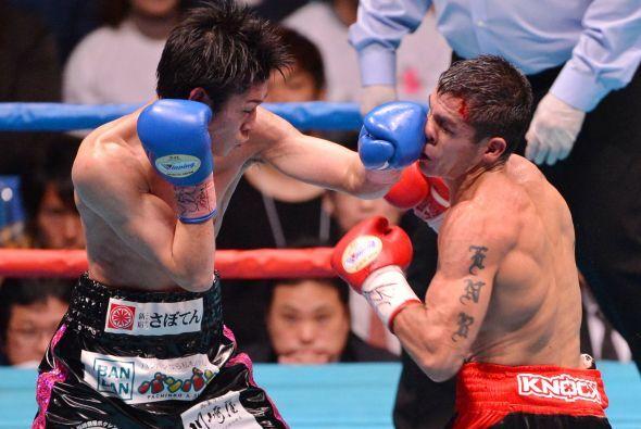 Solo en los últimos asaltos Kuroda mostró cierto peligro para el triunfo...
