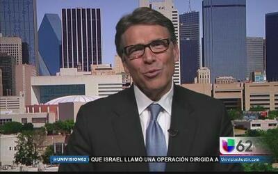 El gobernador Perry se dirige al presidente Obama