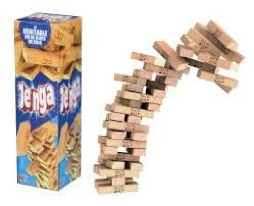 """""""Jenga"""": los juegos de mesa también son una buena opción para comprar es..."""