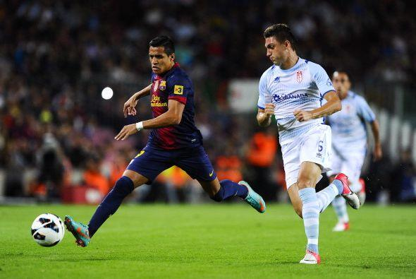 El dominió del Barcelona fue abrumador, aunque al contragolpe Granada pu...