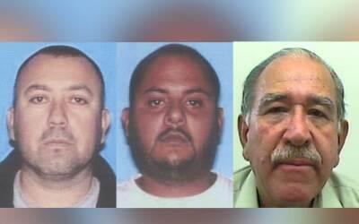 J.L. Guiza (i), L. Álvarez (c) y R. Castañeda (d), acusados de blanqueo