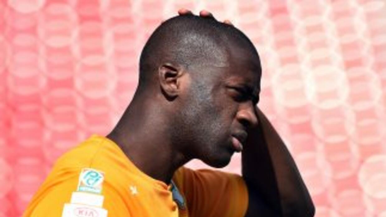 Touré molestó con el Manchester City.