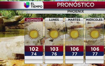 Temperaturas alrededor de 100 grados durante la próxima semana