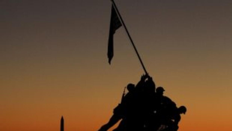 Iwo Jima Memorial in Arlington, Virginia.