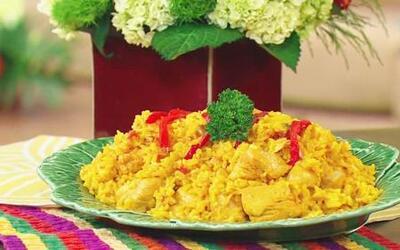 La receta de Arroz con Pollo con el Chef Pepin en Despierta América