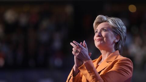 Hillary Clinton fue una de las oradoras principales en la convención de...