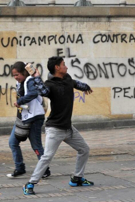 """Pero los colombianos """"indignados"""" también se han movilizado en las áreas..."""