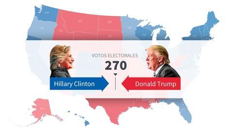 Interactivo: calcula quién será el próximo presidente de Estados Unidos...