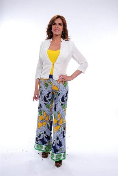 Lucía Méndez lució muy fresca y feliz de ser parte...