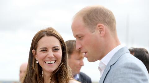 Kate y William durante su visita a Cornwall.