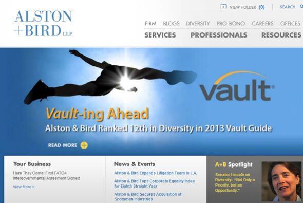 24. ALSTON & BIRD-  Número de empleados-1,645.  Industria- Se...