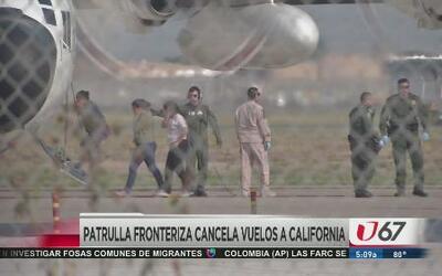 Cancelan vuelos de migrantes a California