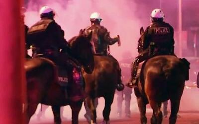 Violentos disturbios en acto de campaña de Trump en Nuevo México