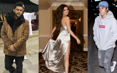 The Weeknd, Selena Gomez y Justin Bieber
