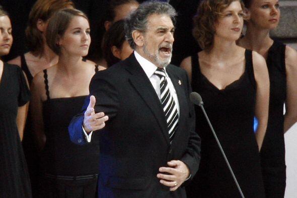 Plácido Domingo nos deleitó con su voz en el Mundial de F&...