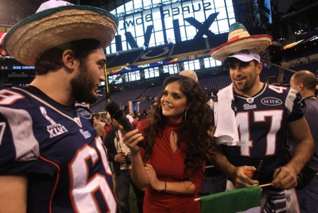 En el Super Bowl XLVI la reportera de Televisa Marisol González hasta so...