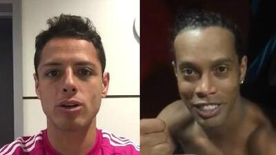 Blanco publicó dos videos de los futbolistas.