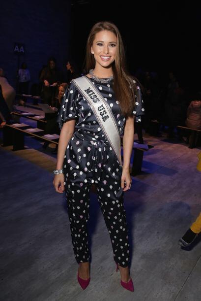 Miss Estados Unidos, Nia Sanchez, es fan de la moda latina y por ello no...