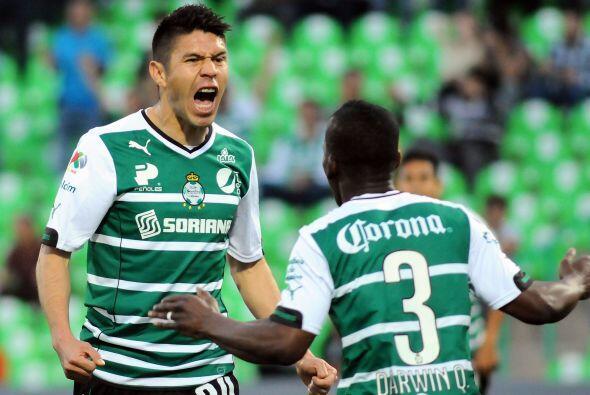 El delantero marcó una época en Santos donde anotó...