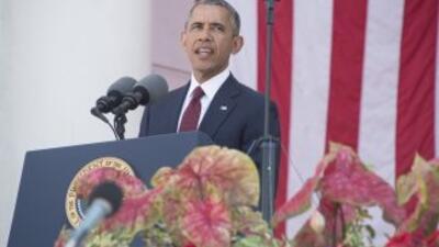 El presidente Barack Obama durante el Memorial Day.