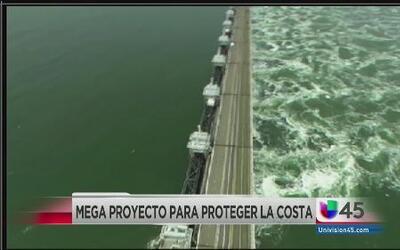 Proponen mega dique en Galveston