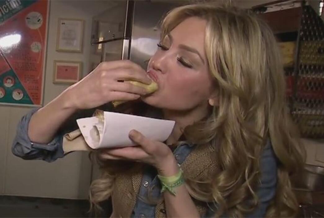 Thalía dijo que lo que gusta de estos tacos es su sabor muy mexicano.
