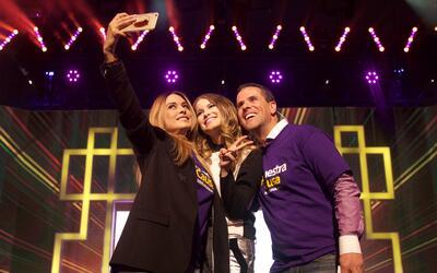 Galilea Montijo, Sofia Reyes y Marco Antonio Solis