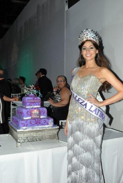 Toda una fiel representante de Nuestra Belleza Latina.