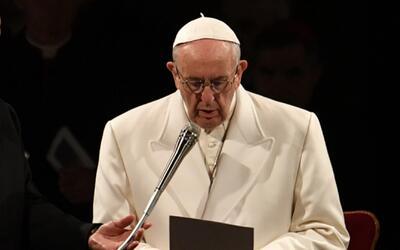El papa Francisco condena los conflictos actuales en el mundo durante la...