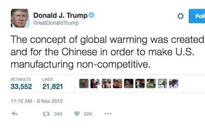 Trump sí dijo que el cambio climático era un mito